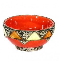 Enameled artisanal bowl – Orange