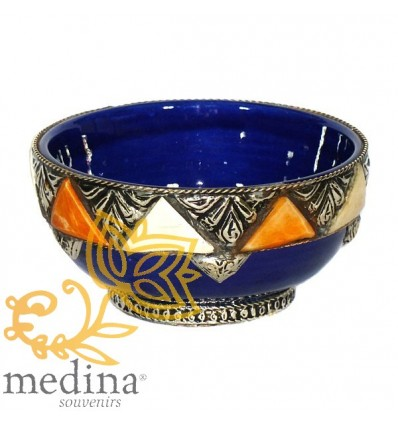 Enameled artisanal bowl – Blue