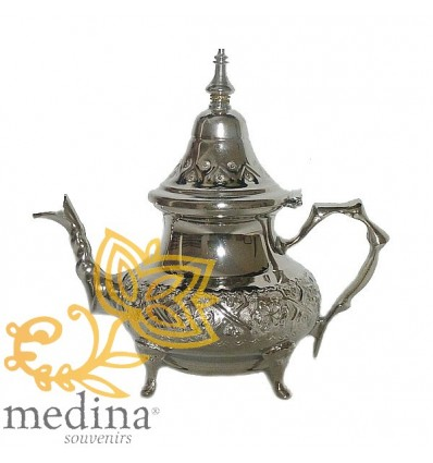 Engraved medium Moroccan teapot Fessia