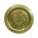 Engraved copper tray Rose beldi